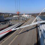Windkraft Flügel Schwergut Umschlag bayernhafen Passau