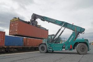 Reachstacker Hyster Container baymodal bayernhafen Bamberg