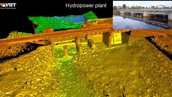 Unterwasserbild hochauflösendes Sonar Wasserkraftwerk