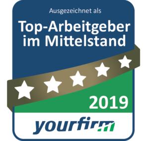 Siegel Top Arbeitgeber im Mittelstand 2019 yourfirm
