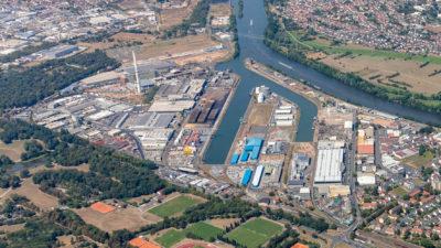 Luftbild 2018 bayernhafen Aschaffenburg