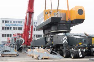 Montage Liebherr LHM420 bayernhafen Passau