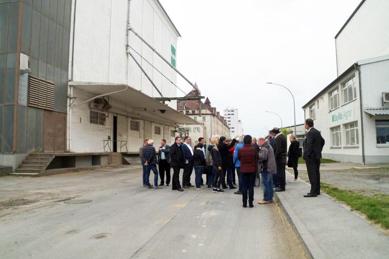 Werksgelände BayWa Besichtigung bayernhafen Bamberg