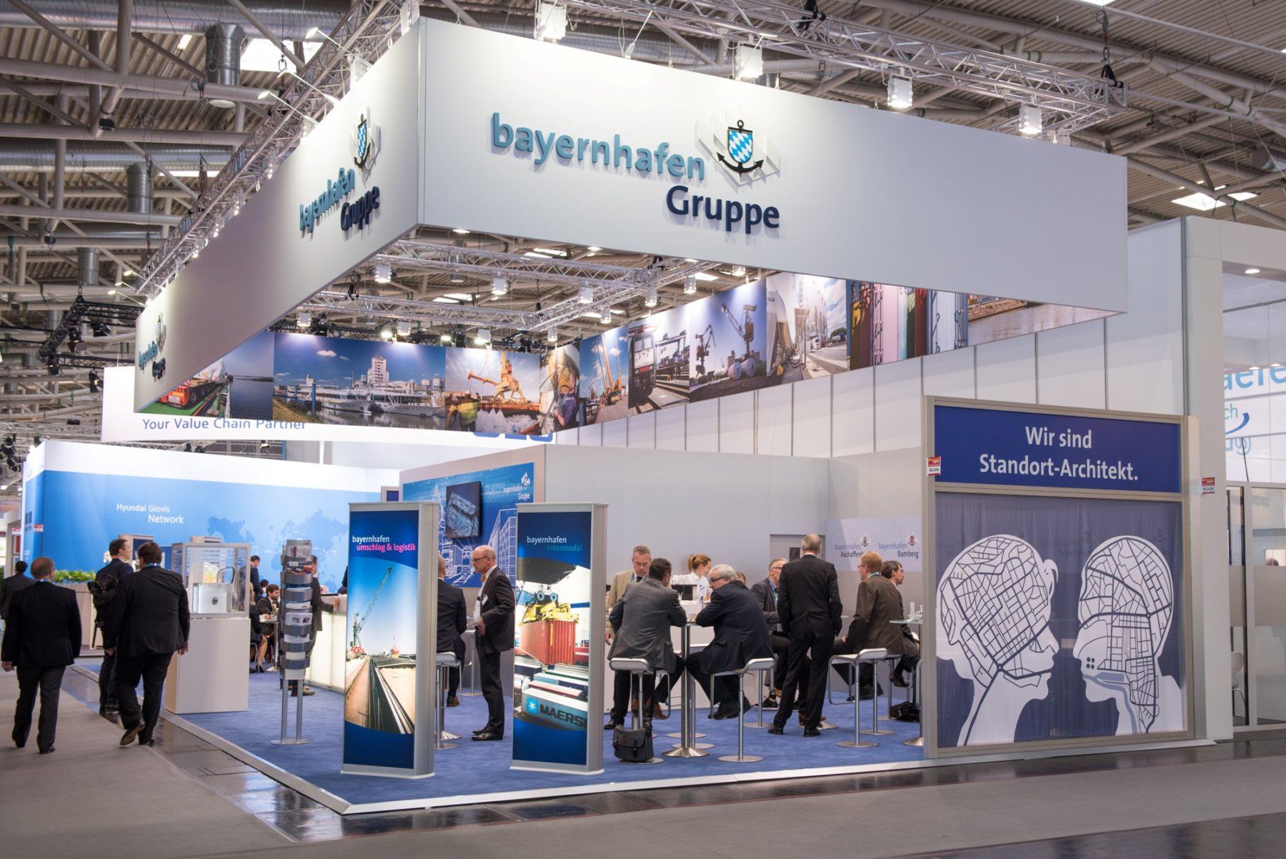 Messestand tranport logistic 2017 bayernhafen