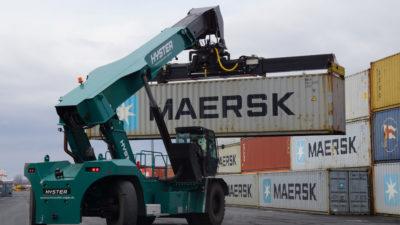Reachstacker Container baymodal bayernhafen Bamberg