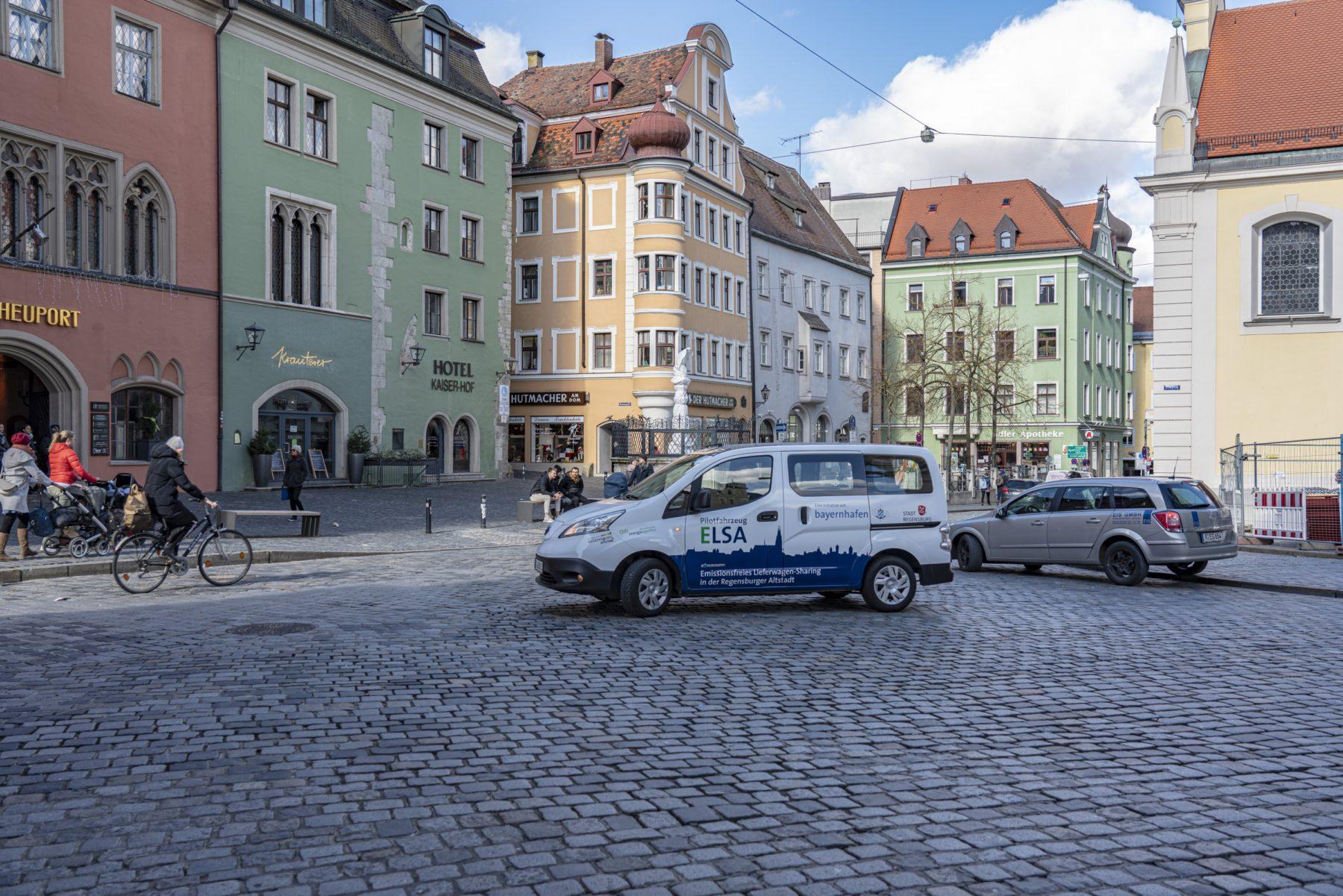 Elsa_Lieferwagensharing_Altstadt Regensburg bayernhafen