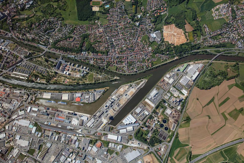 Luftbild 2018 bayernhafen Bamberg