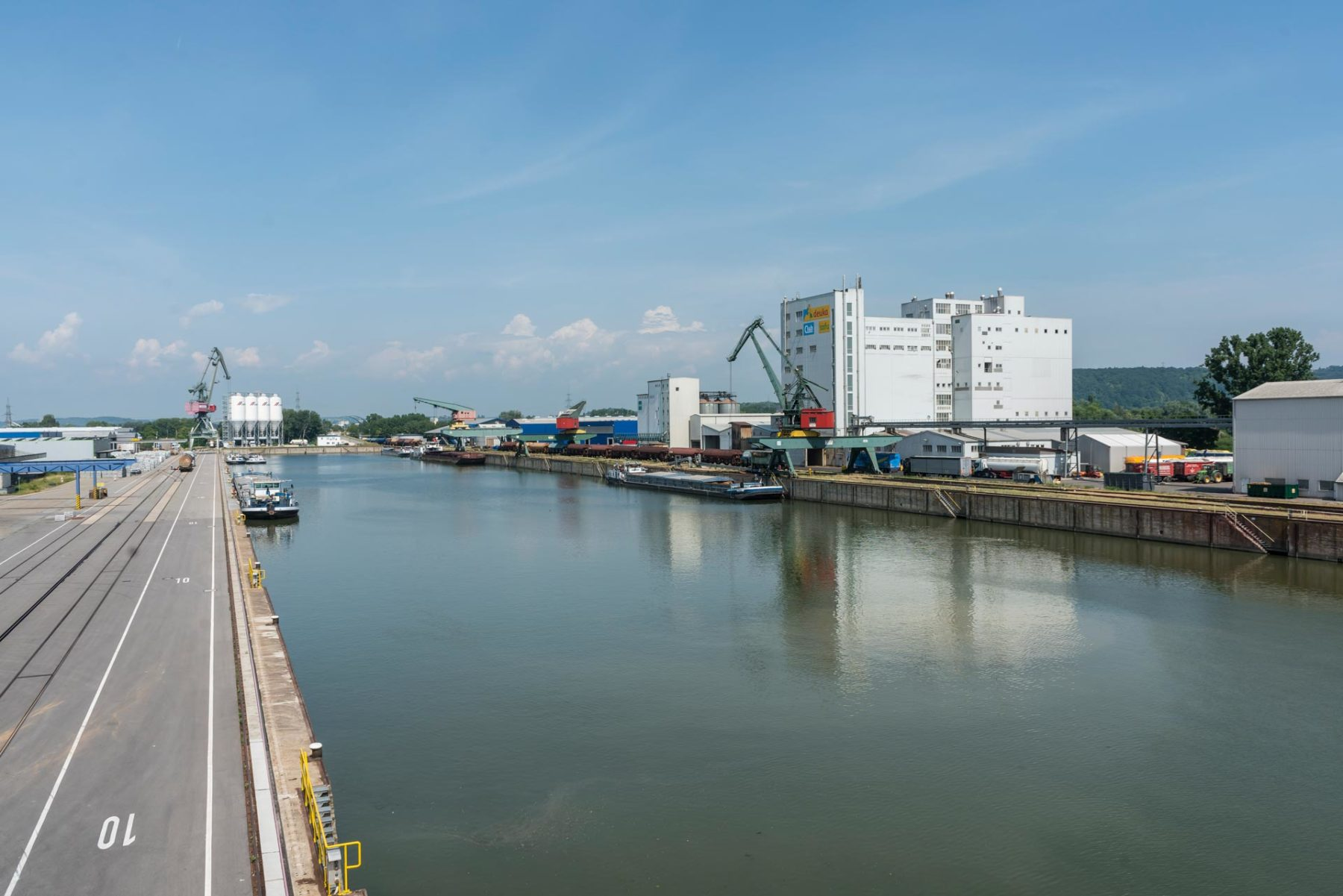 Hafenbecken Osthafen bayernhafen Regensburg