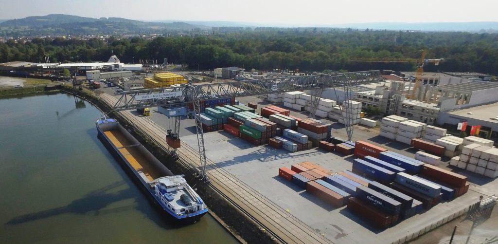 Luftbild Terminal Kombinierter Verkehr bayernhafen Aschaffenburg