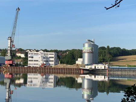 Pellet storage facility in bayernhafen Passau