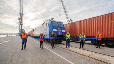 TrainTFG Container train launch bayernhafen Passau