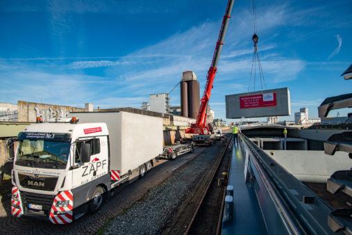 Heavy-lift handling Bamberg transfer of garages
