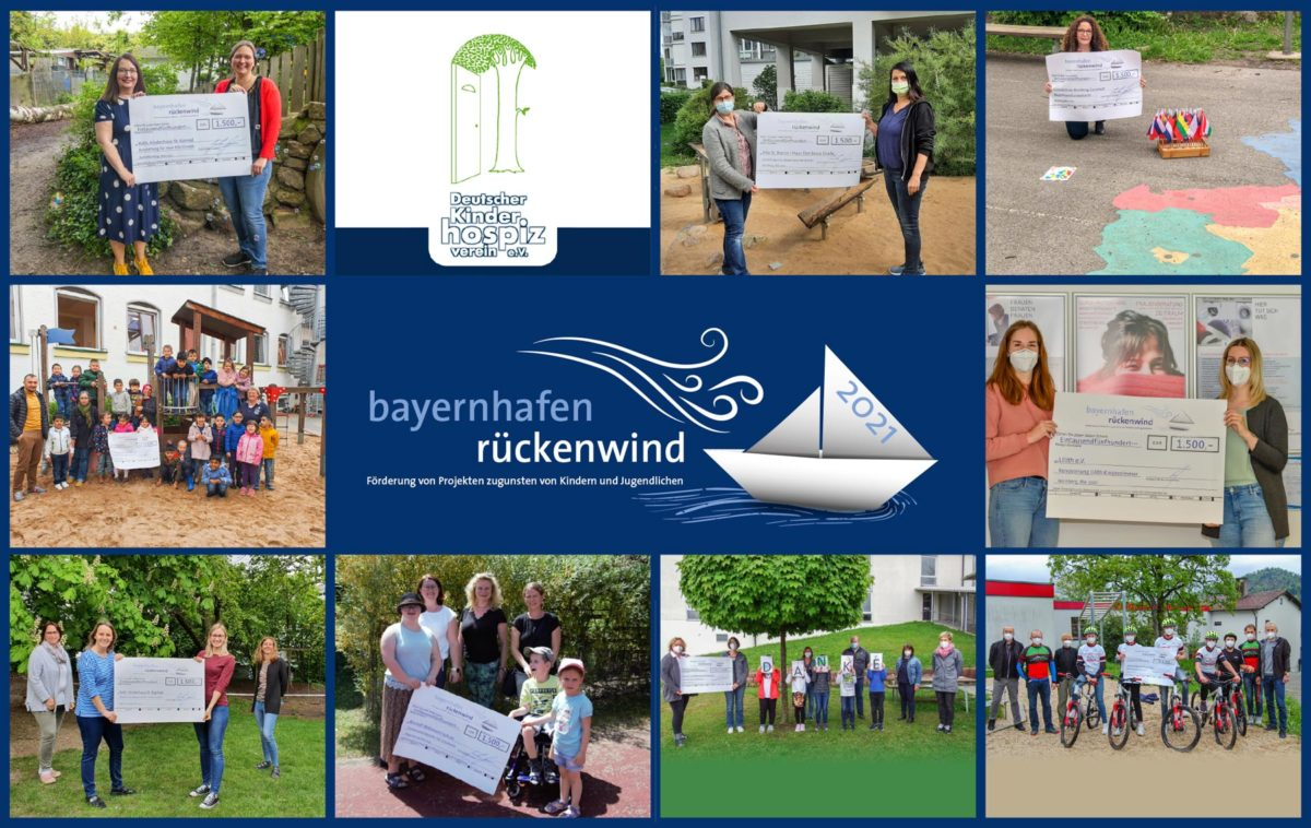 Collage with all winning projects of the bayernhafen tailwind competition
