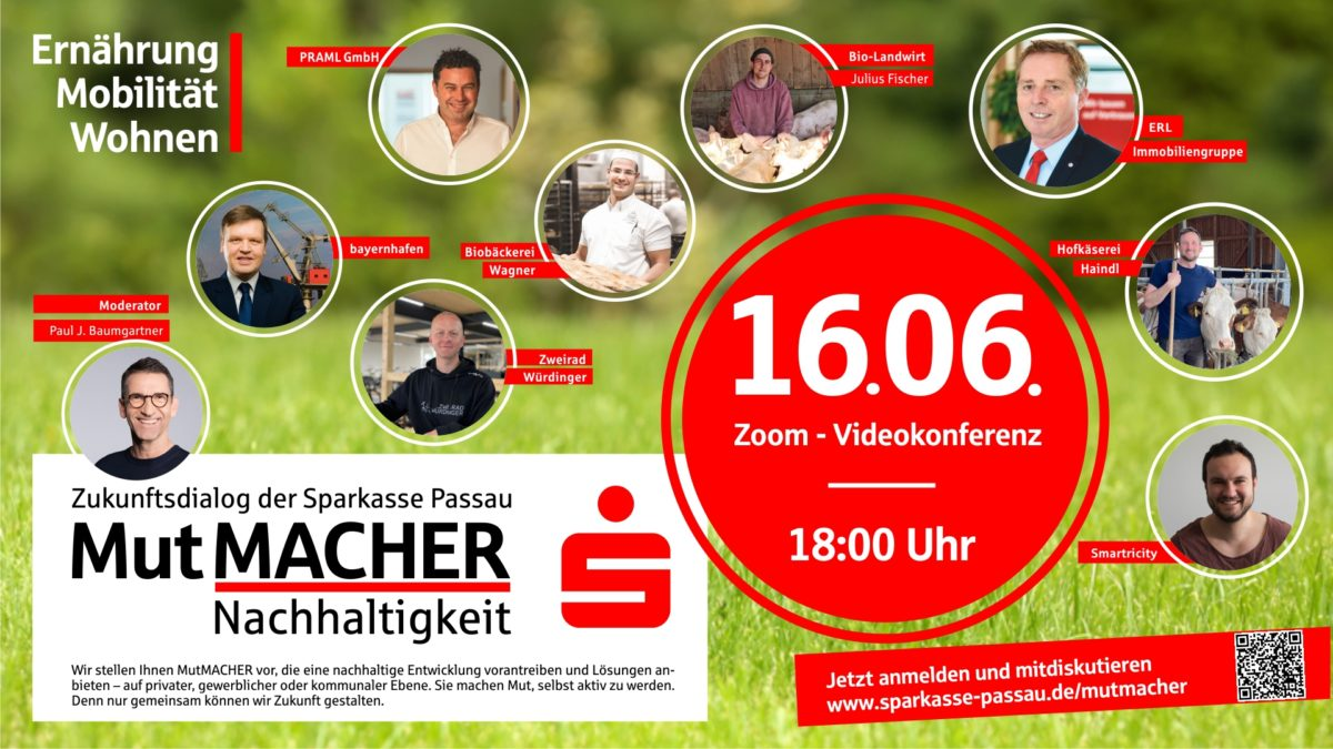 DRIVERS of Sustainability online event held at Sparkasse Passau